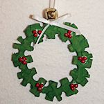 Puzzle Piece Christmas Tree Ornaments