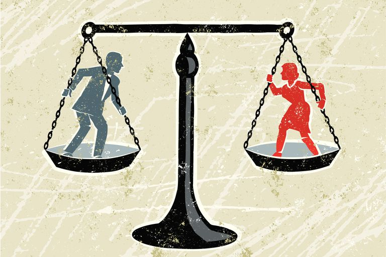Balance Scale with man and woman