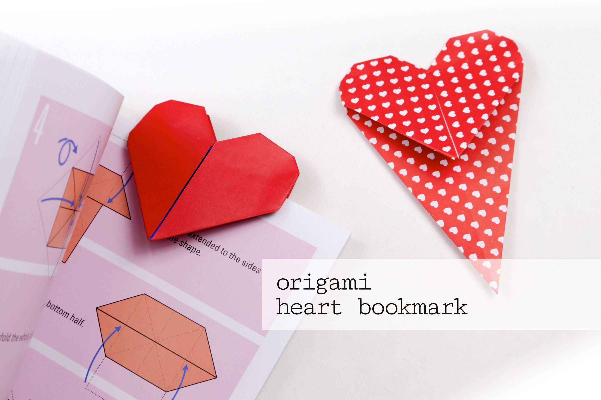 origami heart bookmark tutorial