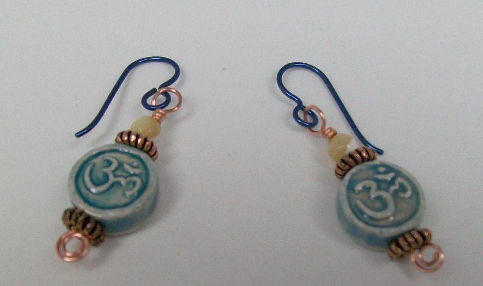 Ohm Raku Earrings