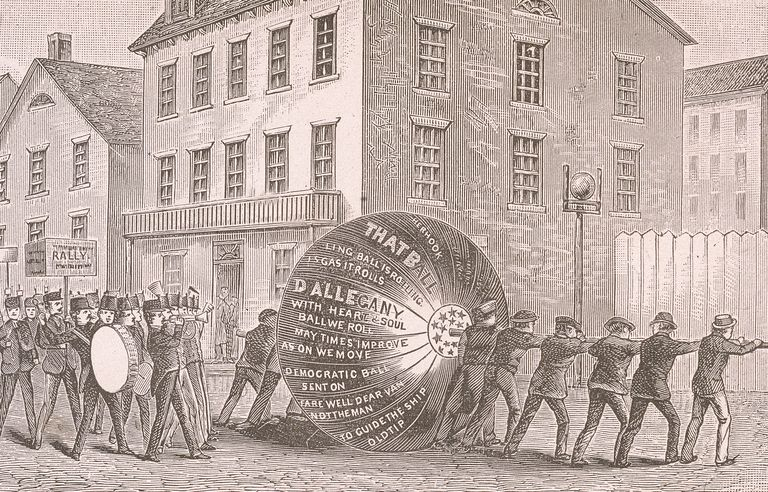 Election procession in the 1840 presidential campaign