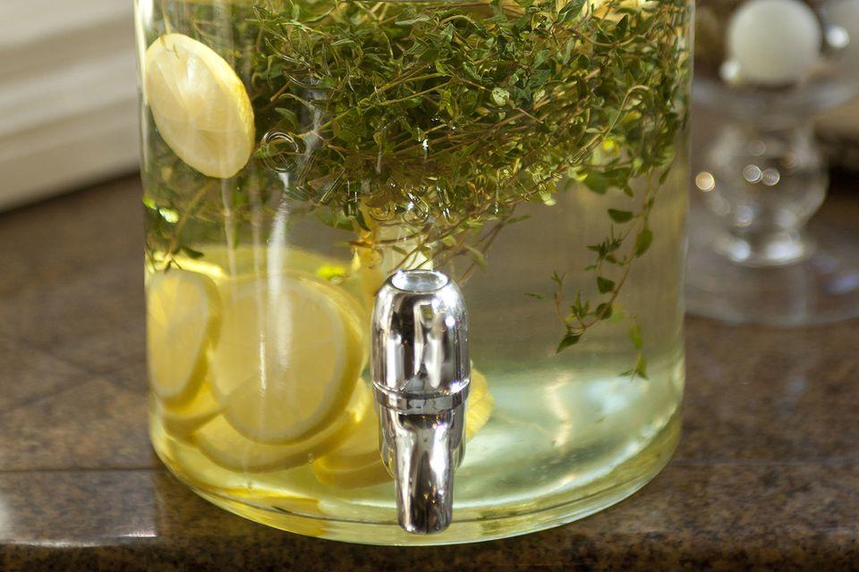 Lemon and Herb Homemade Vodka Infusion