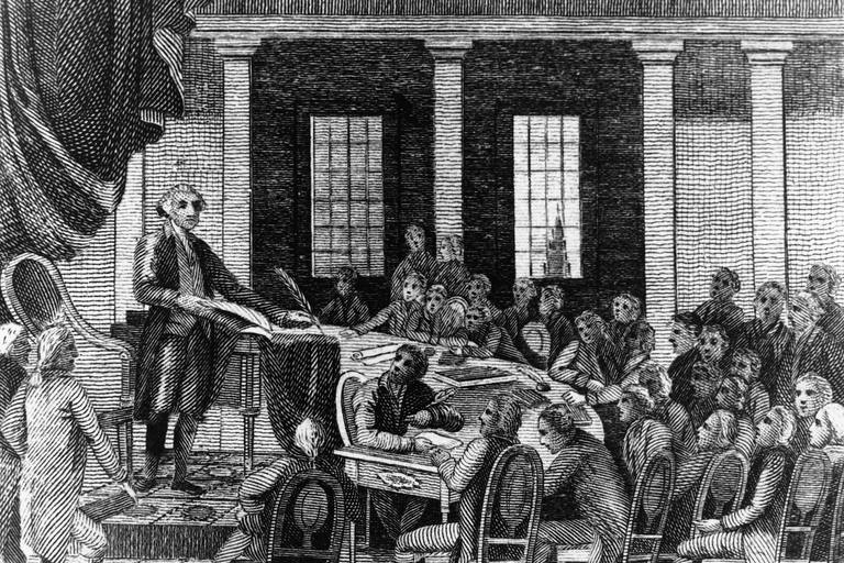 George Washington at the Constitutional Convention
