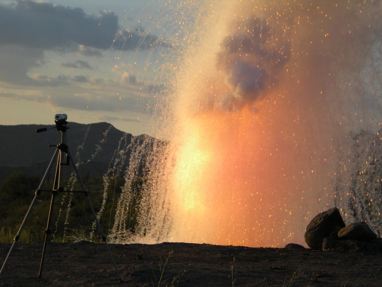 This is an explosion resulting from adding about 3 pounds of sodium to water.
