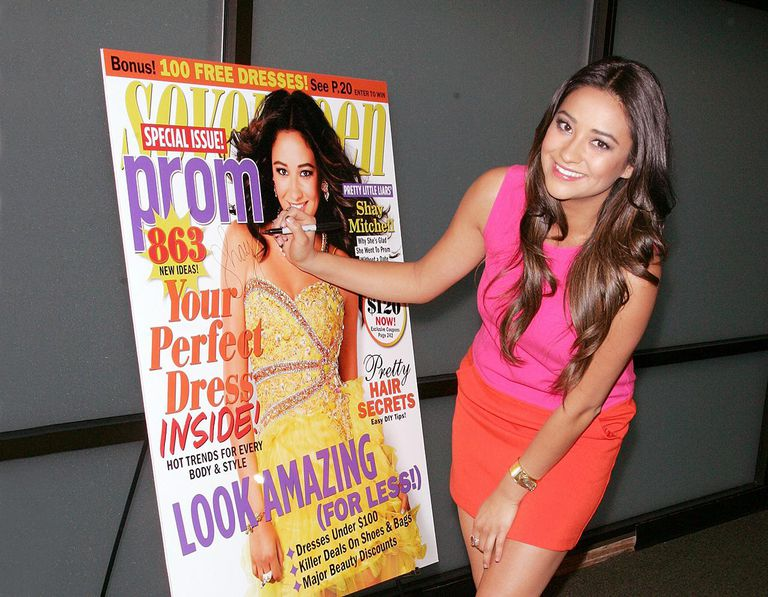 Shay Mitchell Signs Copies Of Her Seventeen Magazine Prom Issue Cover