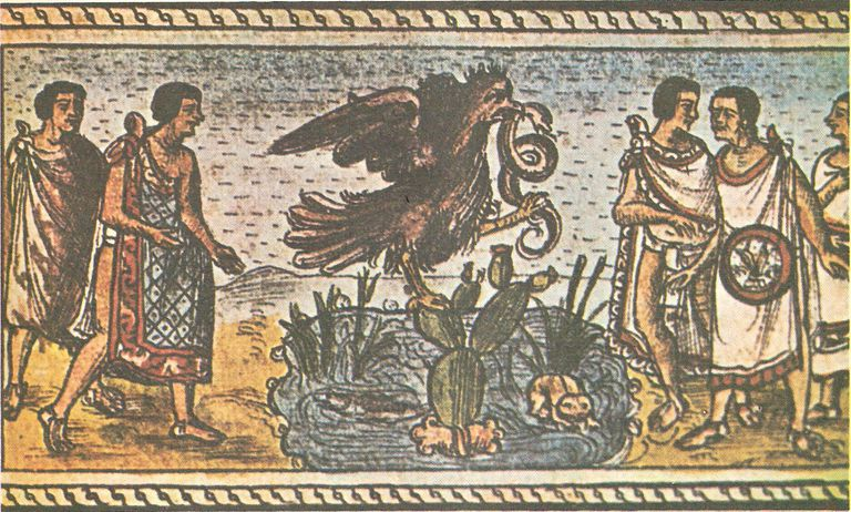 The Founding of Tenochtitlan, from the Codex Duran