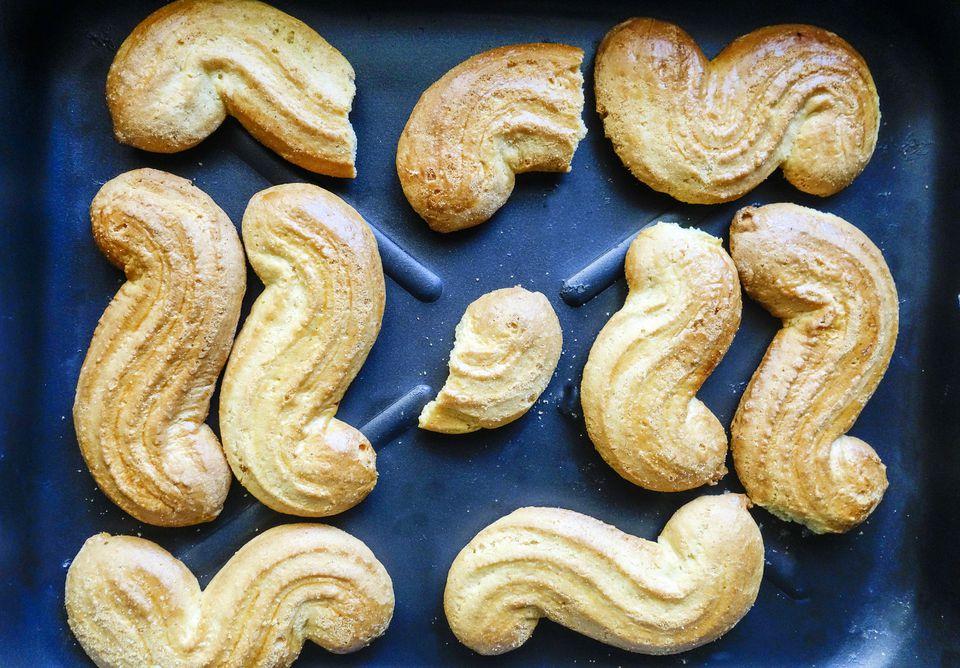 Greece traditional koulourakia biscuits