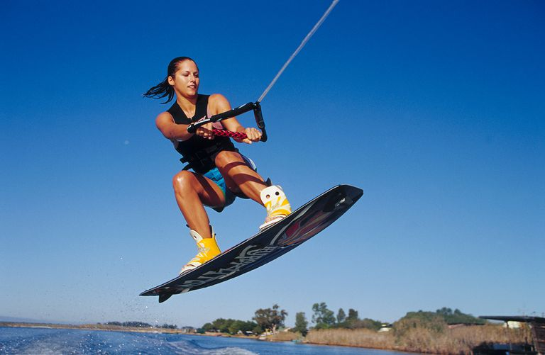 Woman Wakeboarding