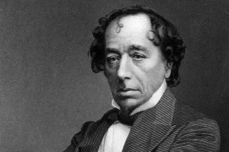 Engraved portrait of Benjamin Disraeli
