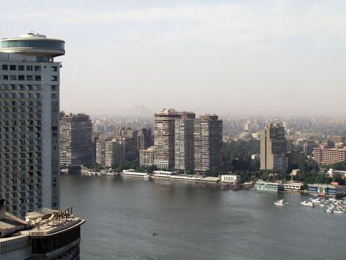 Nile River View in Cairo, Egypt