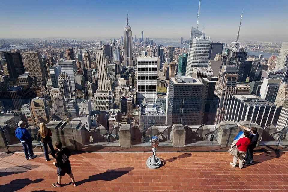 United States, New York, Manhattan, view from the rooftop observatory Top Of The Rock