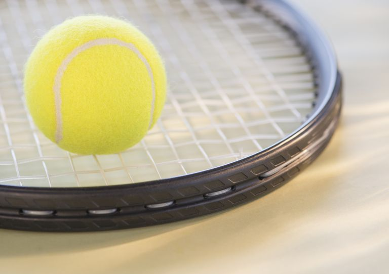 ball on racquet