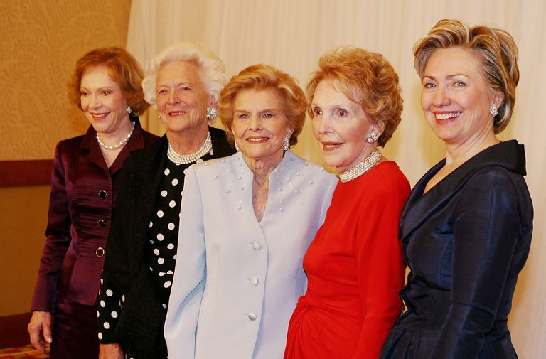 Rosalynn Carter, Barbara Bush, Betty Ford, Nancy Reagan and Hillary Clinton
