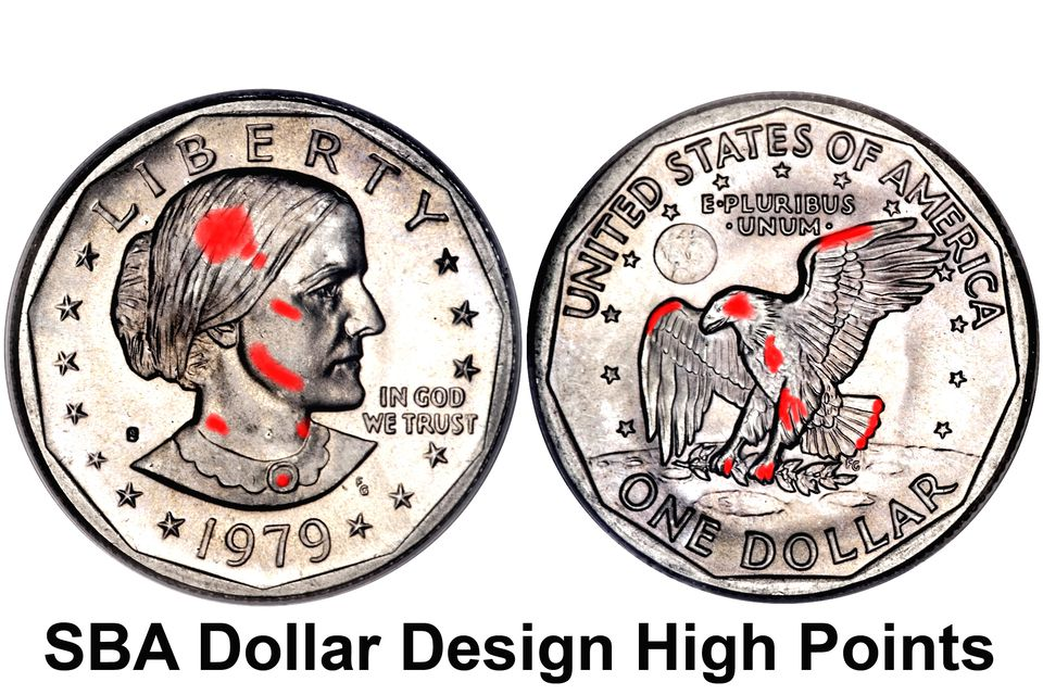 Susan B Anthony One Dollar Coin Design High Points