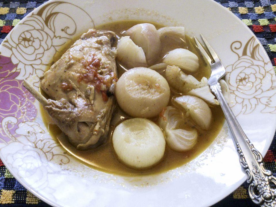 Stifado Greek dish