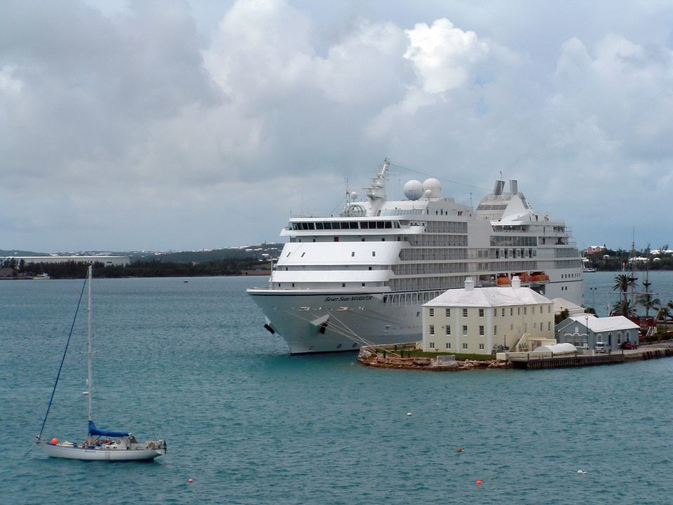 Regent Seven Seas Navigator at the dock in Bermuda