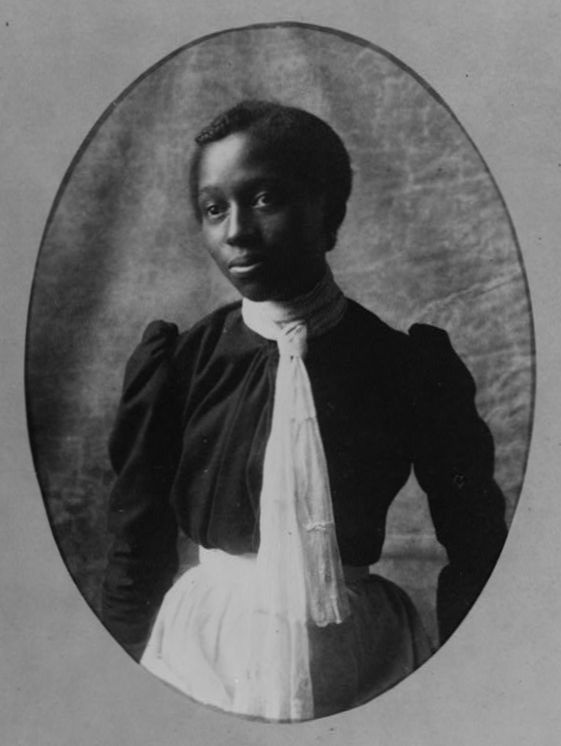 African American woman, about 1899-1900. From album compiled by W.E.B. Du Bois.