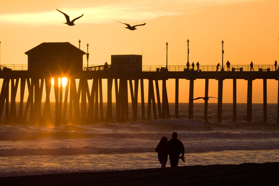 Sunset at the Huntington Beach Pier
