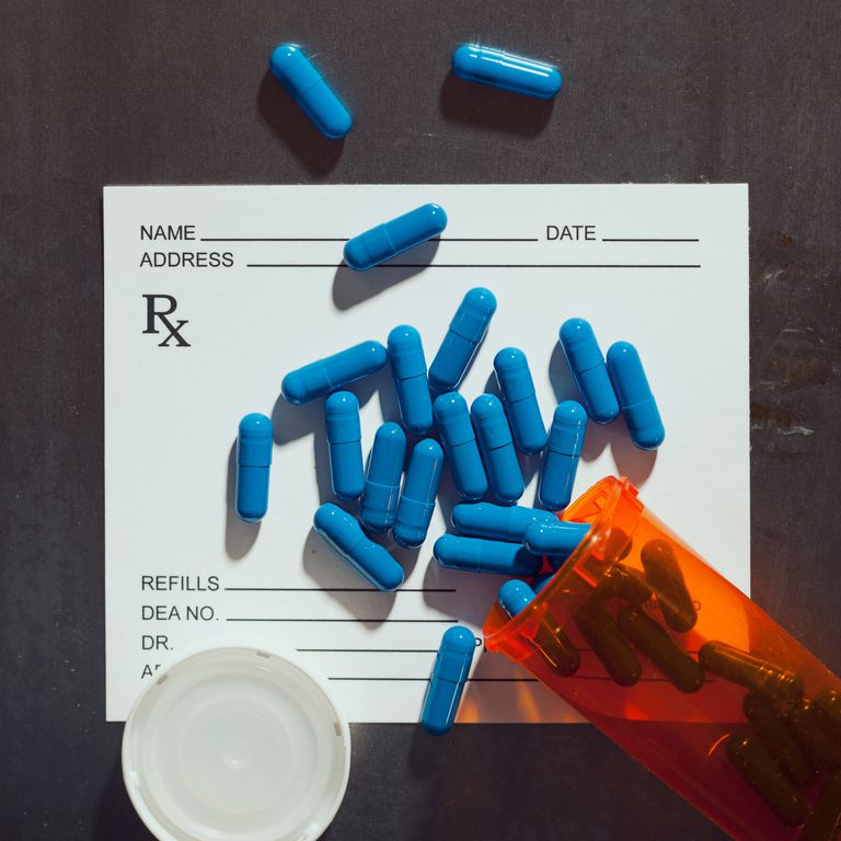 Pills on top of prescription note