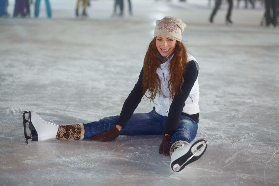 Woman ice-skating