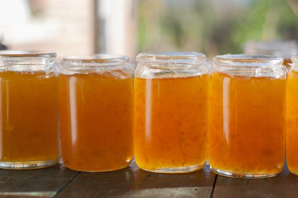 Jars of Homemade Marmalade