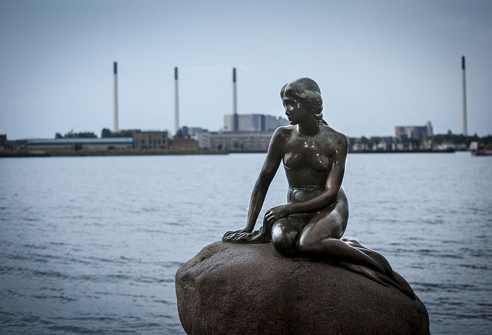 General view of The Statue of the Little Mermaid on August 1, 2012 in Copenhagen, Denmark.