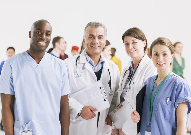 Portrait of smiling doctors and nurses