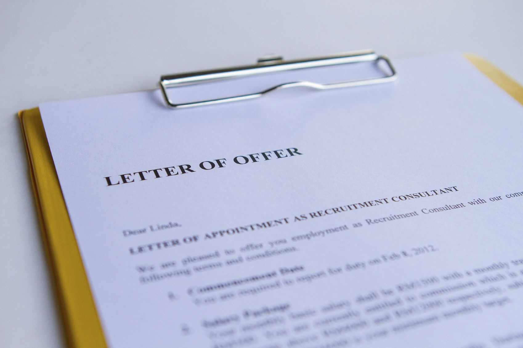 What is a Counter Offer Letter