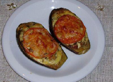 Papoutsakia - Stuffed Eggplant Halves
