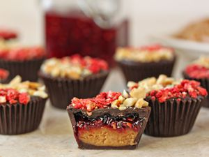 Peanut Butter & Jelly Chocolate Cups photo