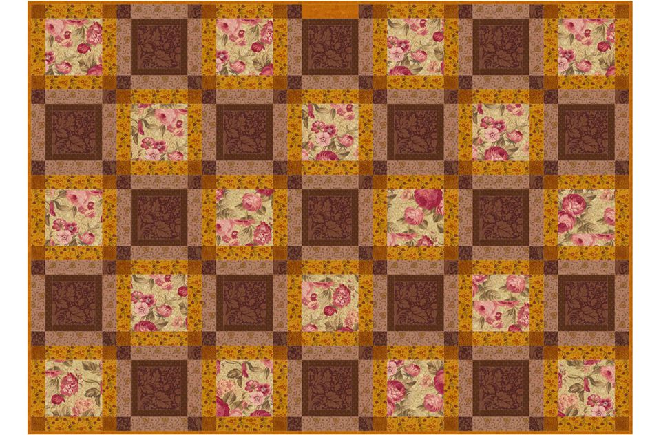 Continuous Squares, an Easy Quilt Pattern : how to make quilt squares - Adamdwight.com