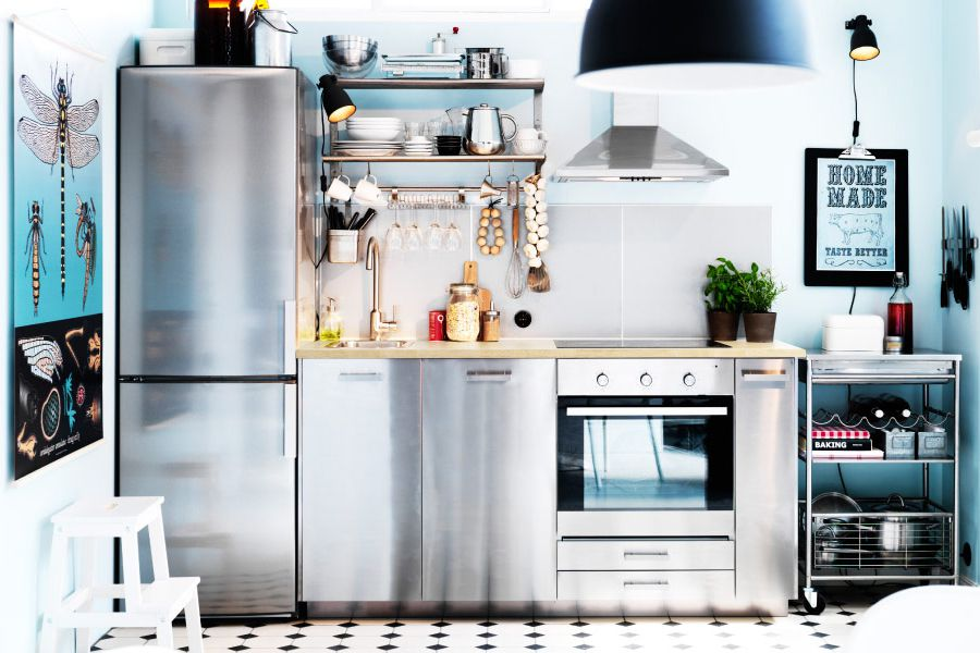 10 space making hacks for small kitchens for Small kitchens ikea