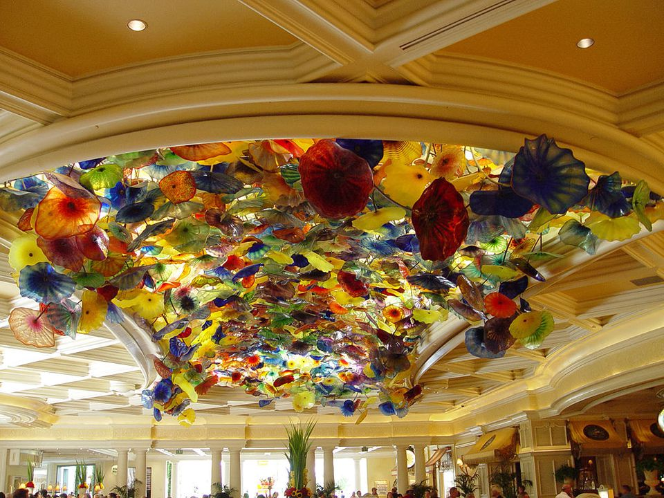 Chihuly sculpture at Bellagio