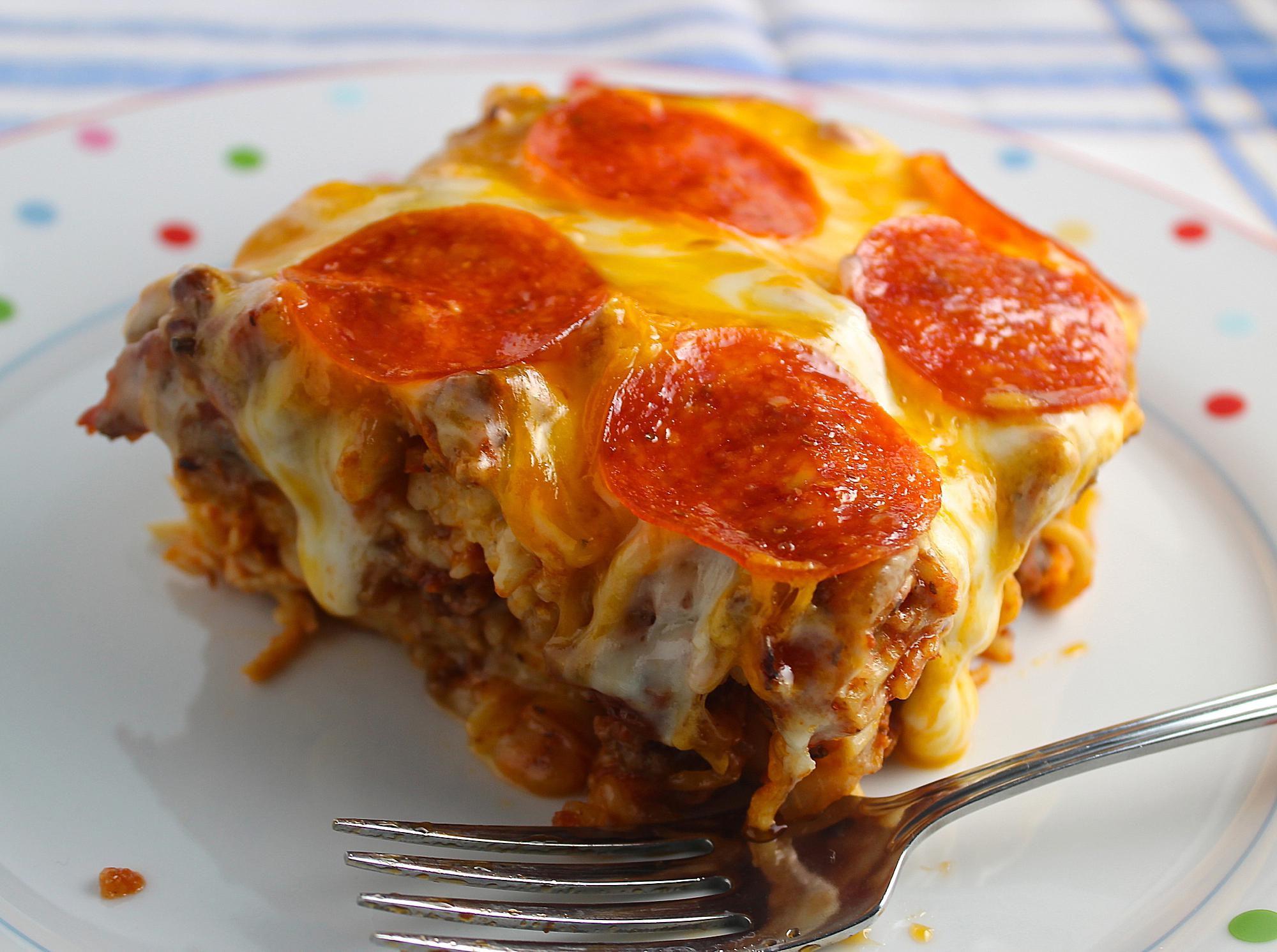 Pizza Spaghetti Style Recipe