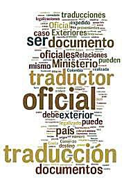 Afiche con palabras alusivas a la traducción oficial