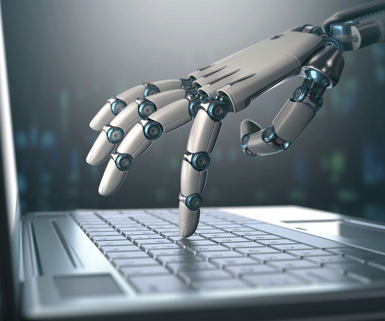 Robotic hand using a laptop computer