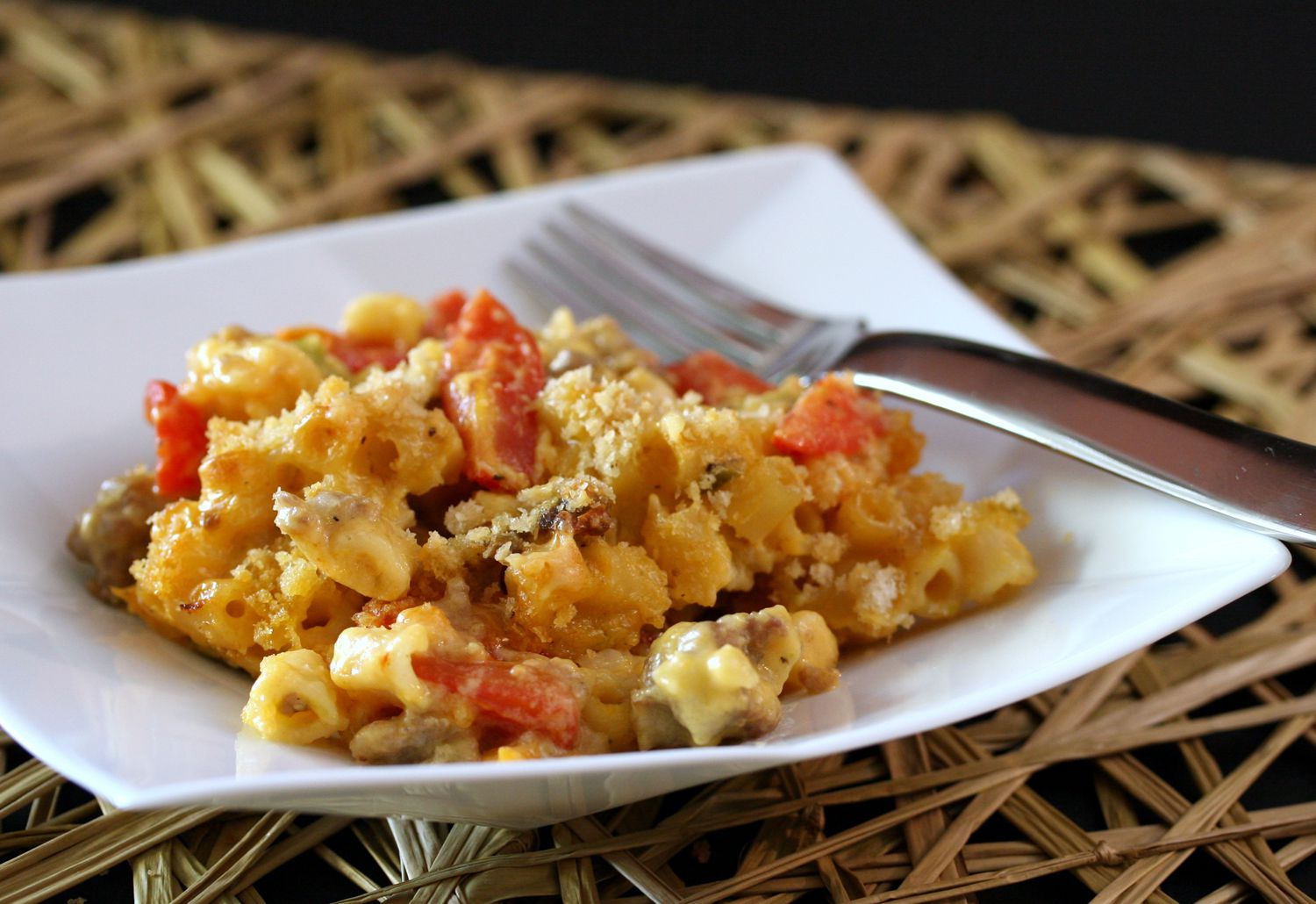 Macaroni and Cheese With Sausage Recipe