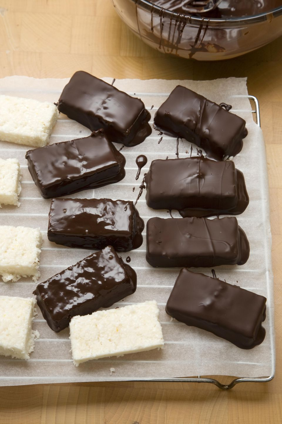 chocolate dipped coconut bars