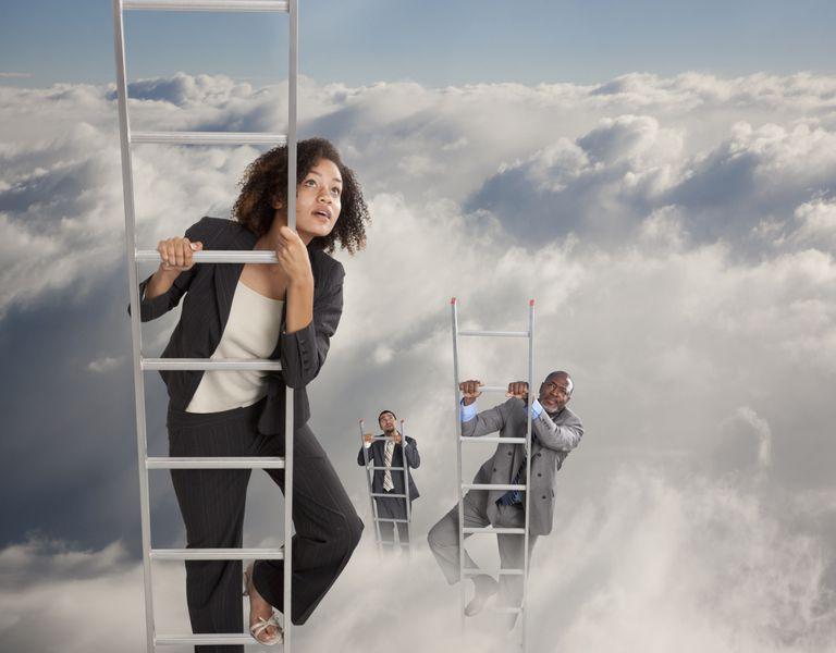 Climbing a corporate ladder