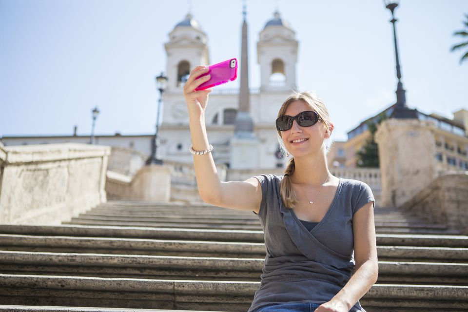 iPhone selfie in Rome