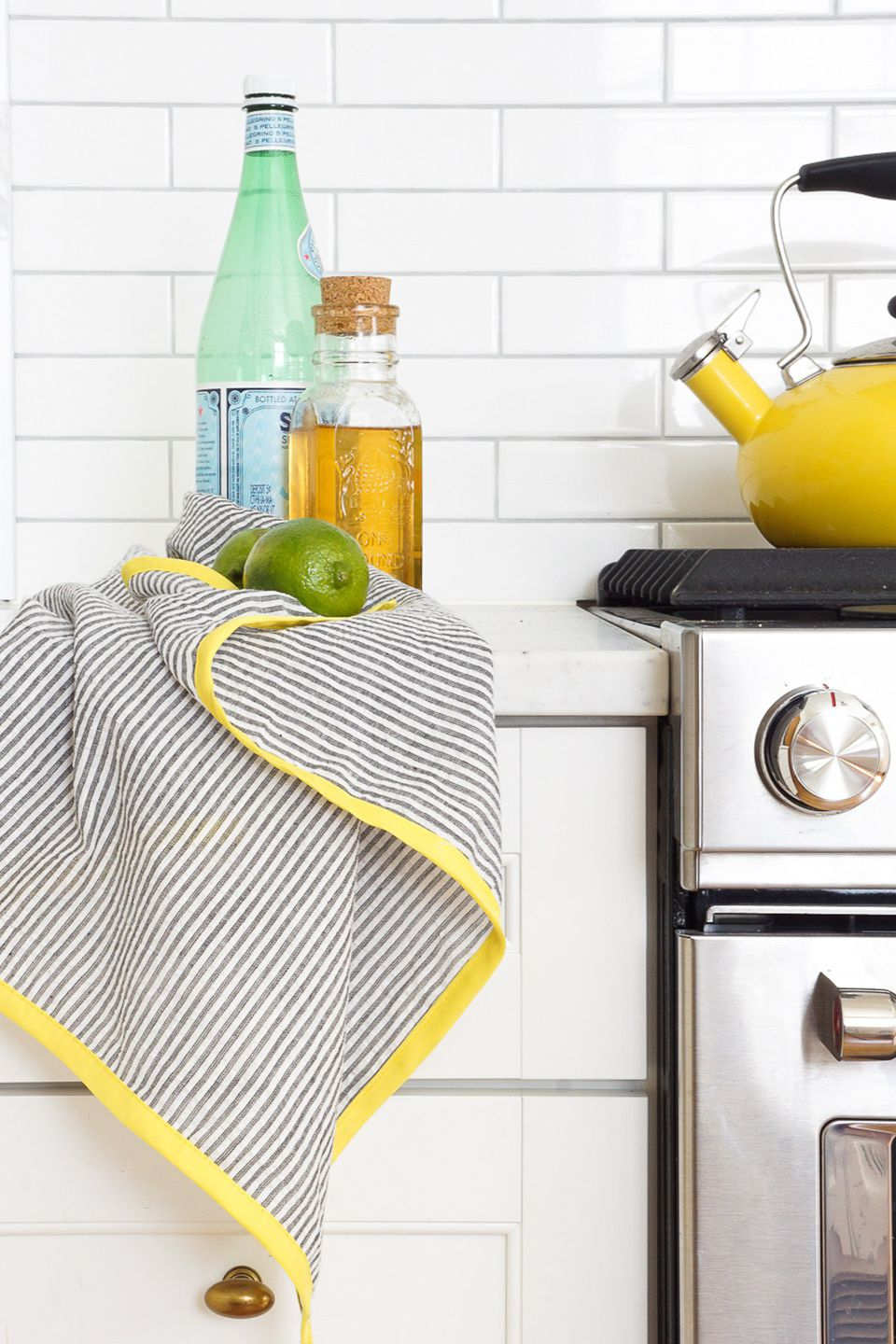 DIY Color Edged Tea Towels