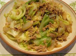 Stir-fried Cabbage with Tuna