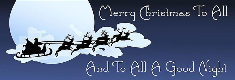 Clip Art of A Sign Saying Merry Christmas To All