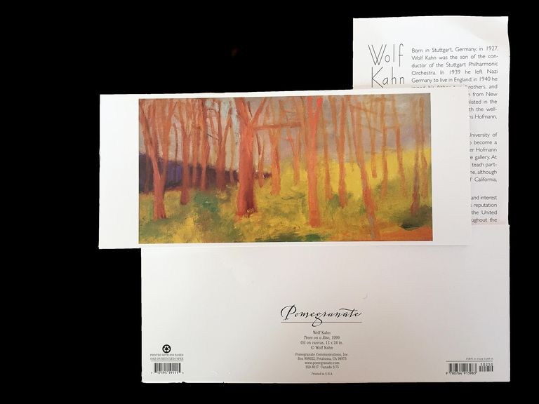 Example of notecards with image of painting