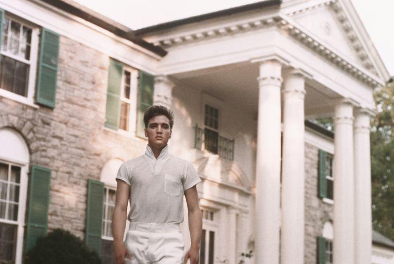 Elvis Presley at Graceland, c. 1957