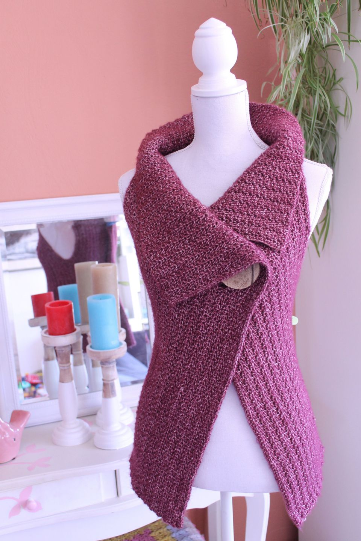 20 gorgeous free crochet cardigan patterns for women sleeveless cardigan button wrap free crochet pattern bankloansurffo Images