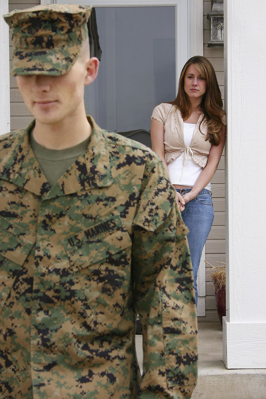 Marine leving wife
