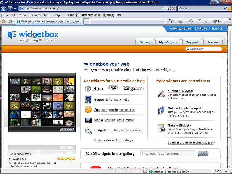 Widget Database