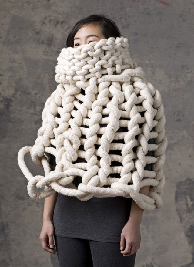 Knitting Wearable Art : Funny and weird knitwear that actually exists