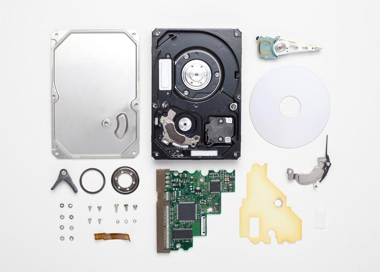 Dismantled hard drive